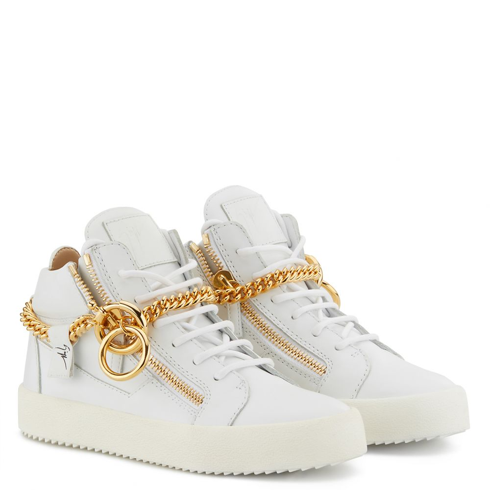 CHAIN - White - Mid top sneakers