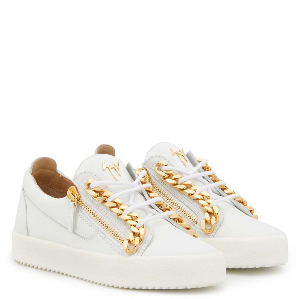 FRANKIE CHAIN - White - Low top sneakers