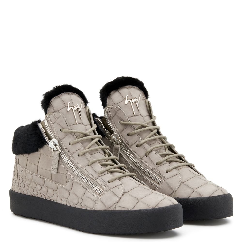 COLE - Grey - Mid top sneakers