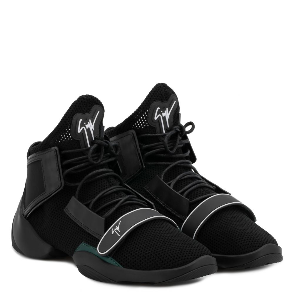 LIGHT JUMP MT1 - Black - Mid top sneakers