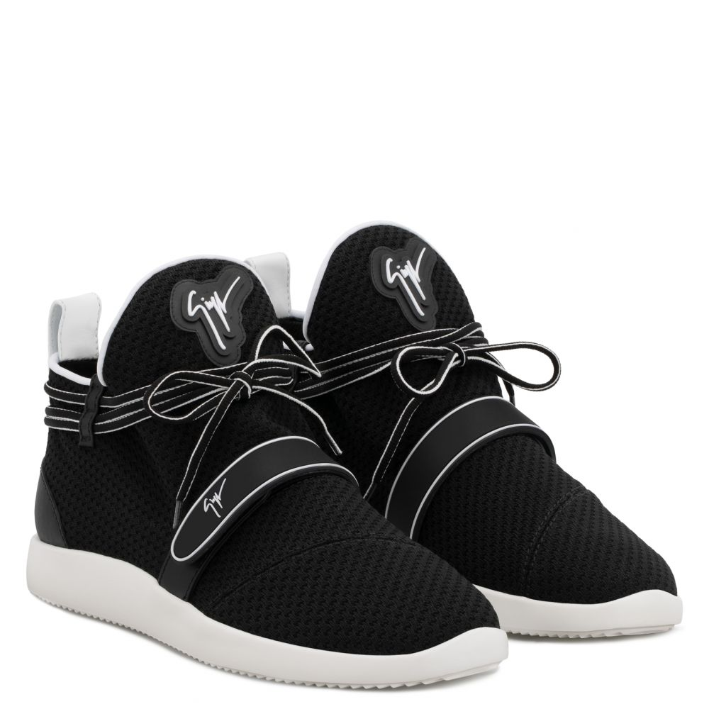 HAYDEN - Black - Mid top sneakers