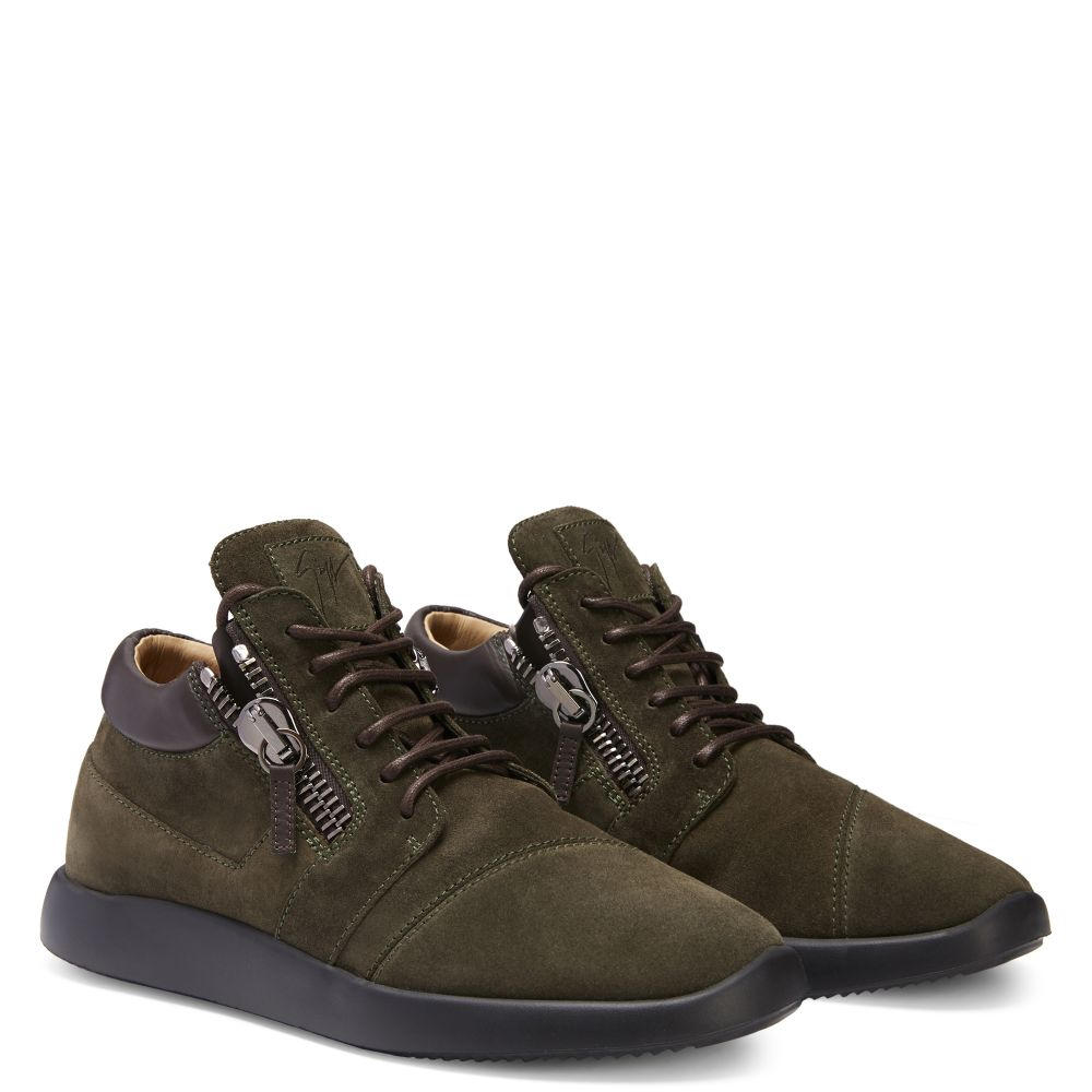 HAYDEN - Brown - Mid top sneakers