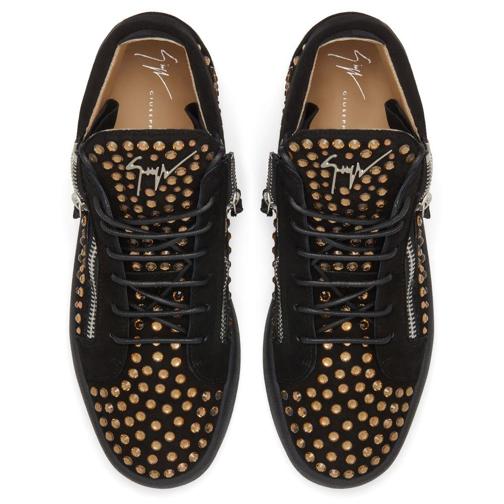 KRISS DIAMOND - Black - Mid top sneakers
