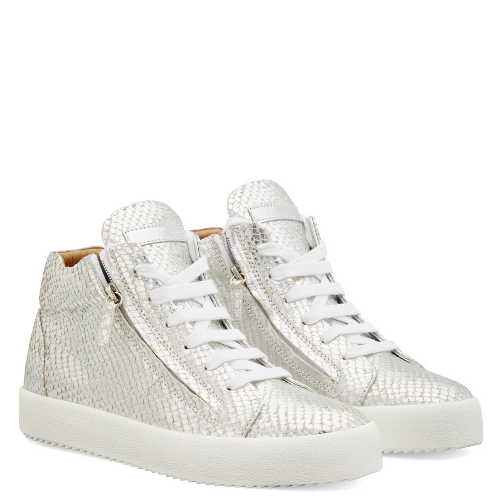 JUSTY - Argent - Sneakers montante