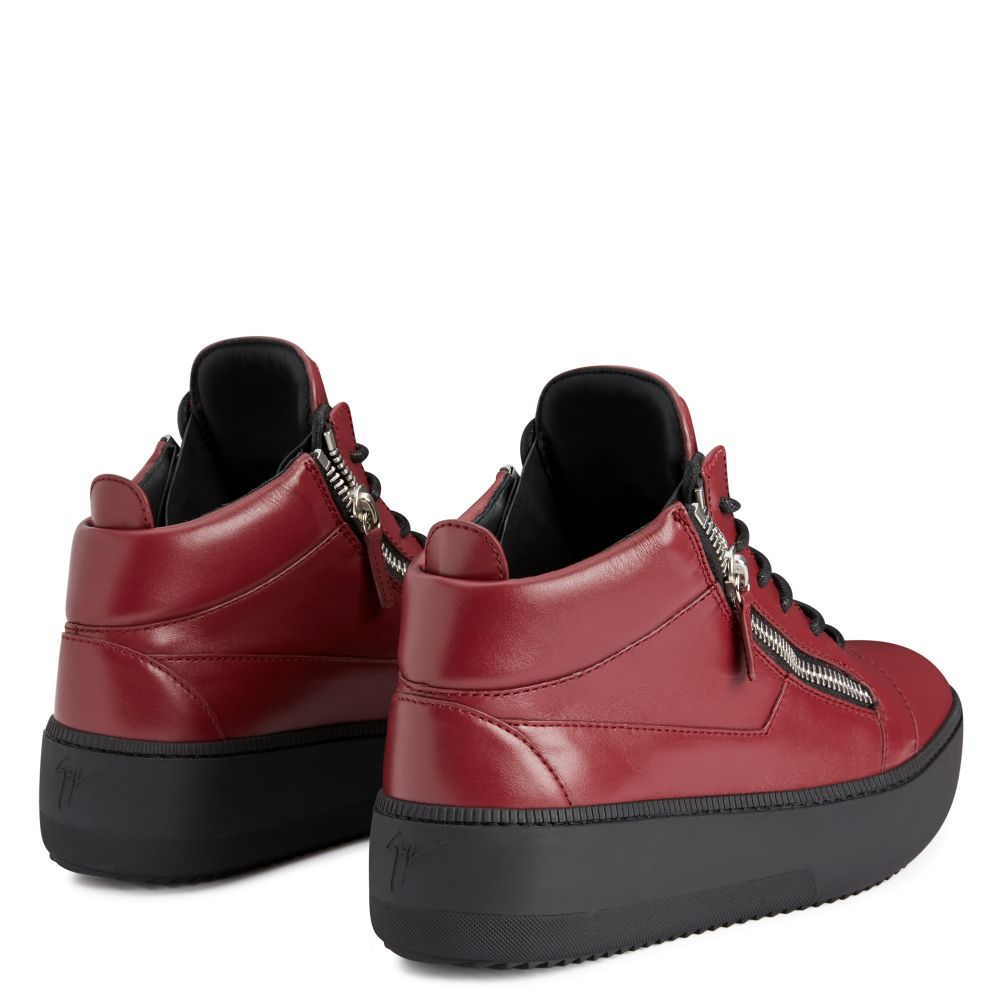 KRISS - Bordeaux - Mid top sneakers
