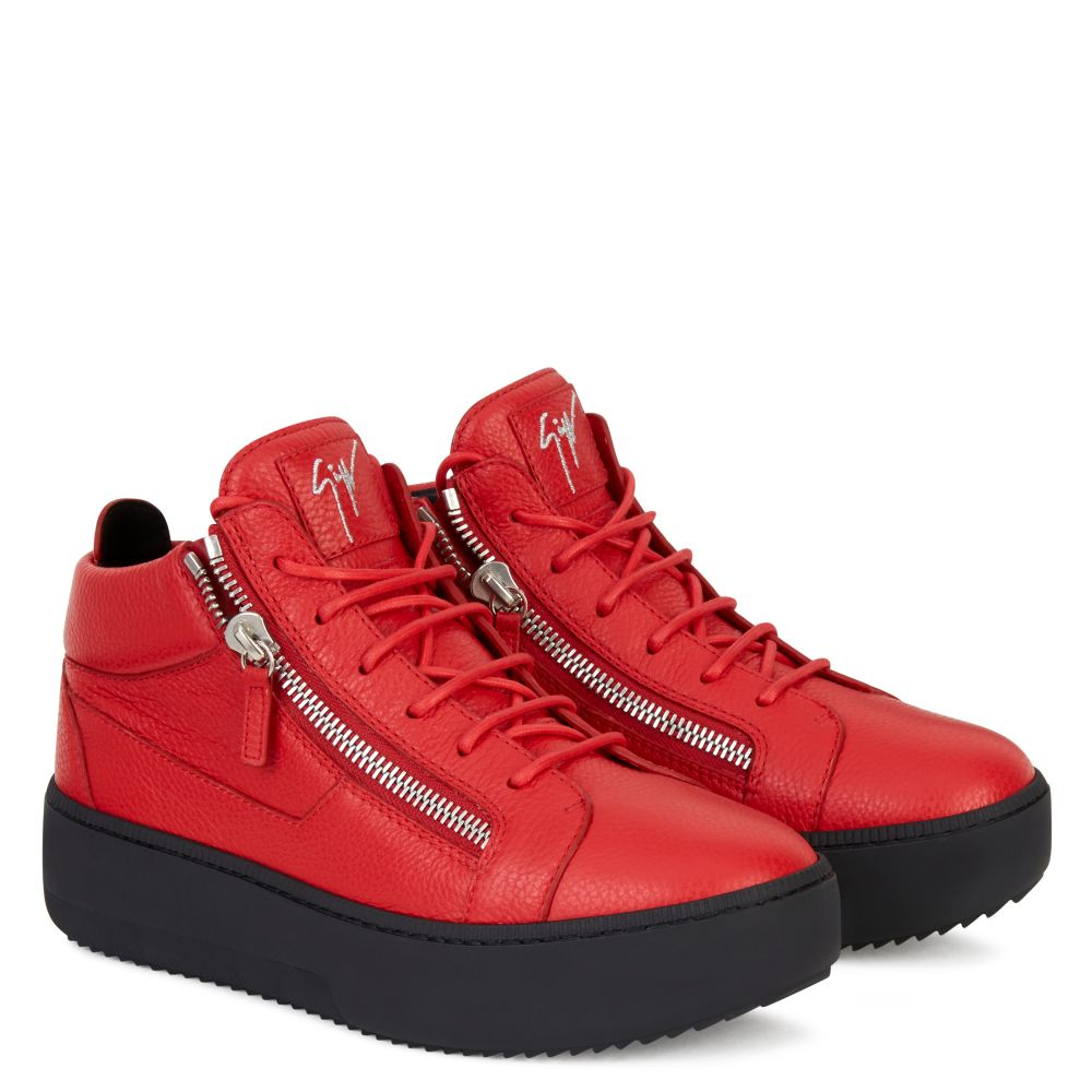 KRISS - Red - Mid top sneakers