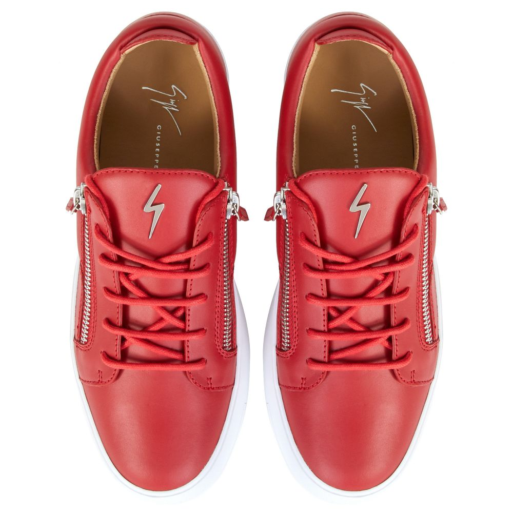 FRANKIE - Red - Low top sneakers