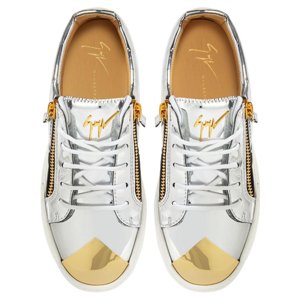 GAIL STEEL - Silver - Low top sneakers