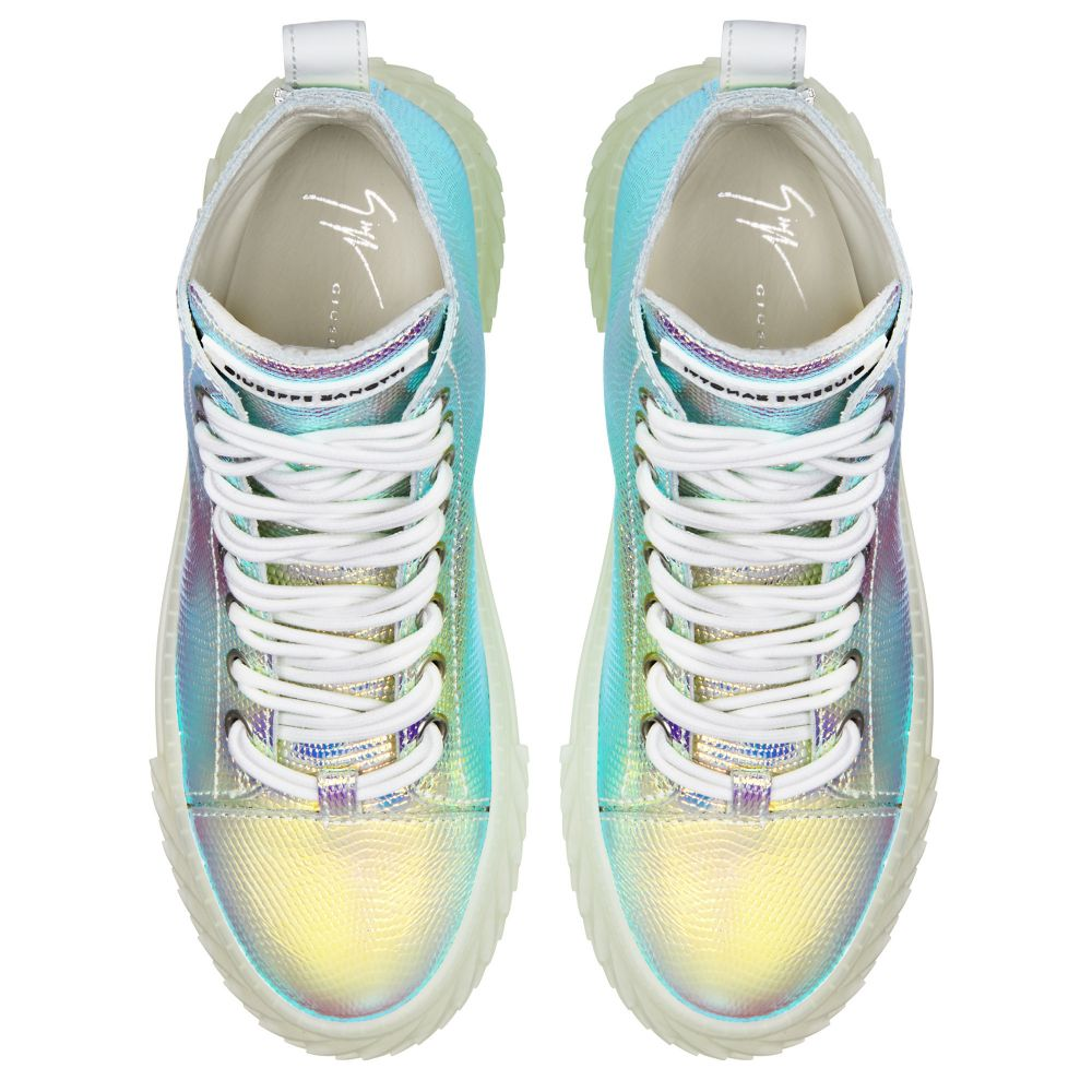 BLABBER JELLYFISH - Silver - Mid top sneakers