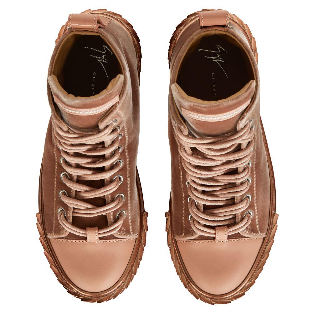 BLABBER - Pink - Mid top sneakers