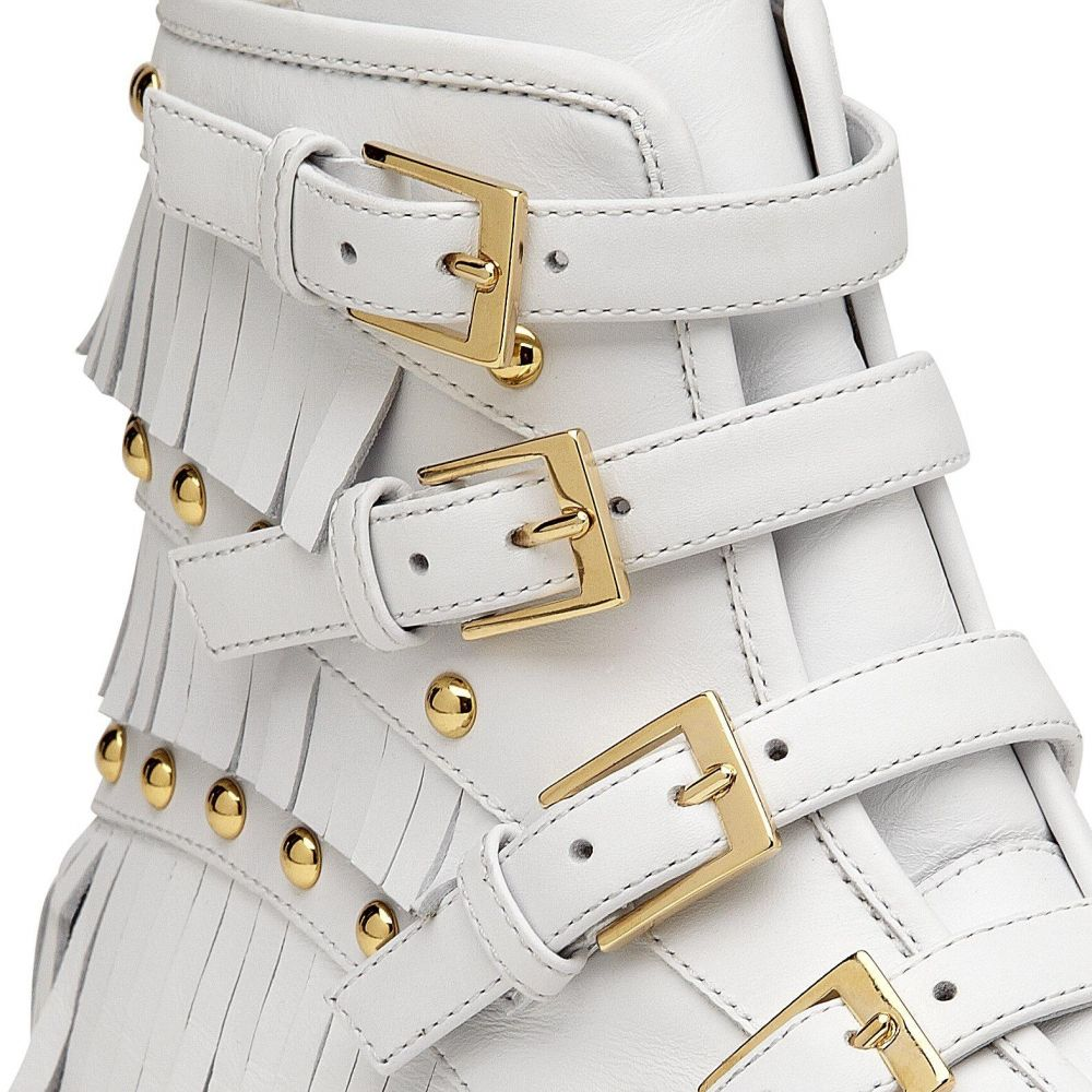 AMBER - White - High top sneakers