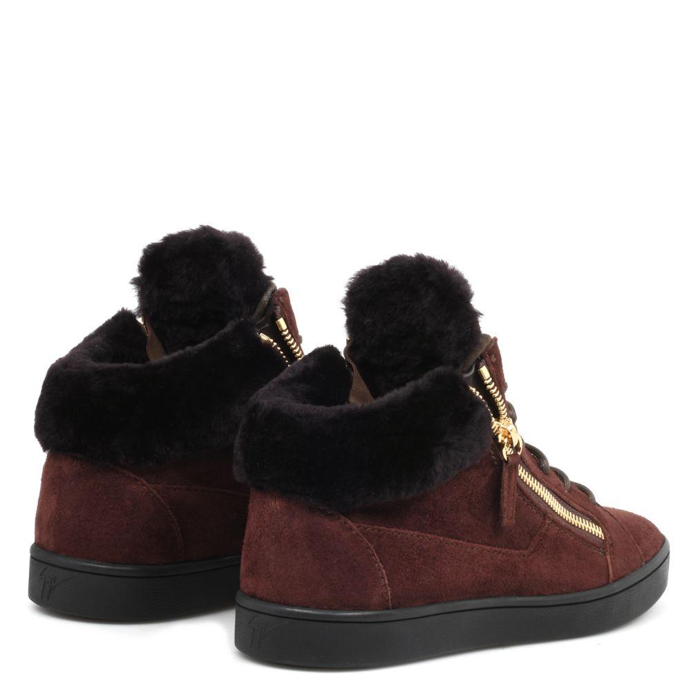 NICKI - Brown - Mid top sneakers