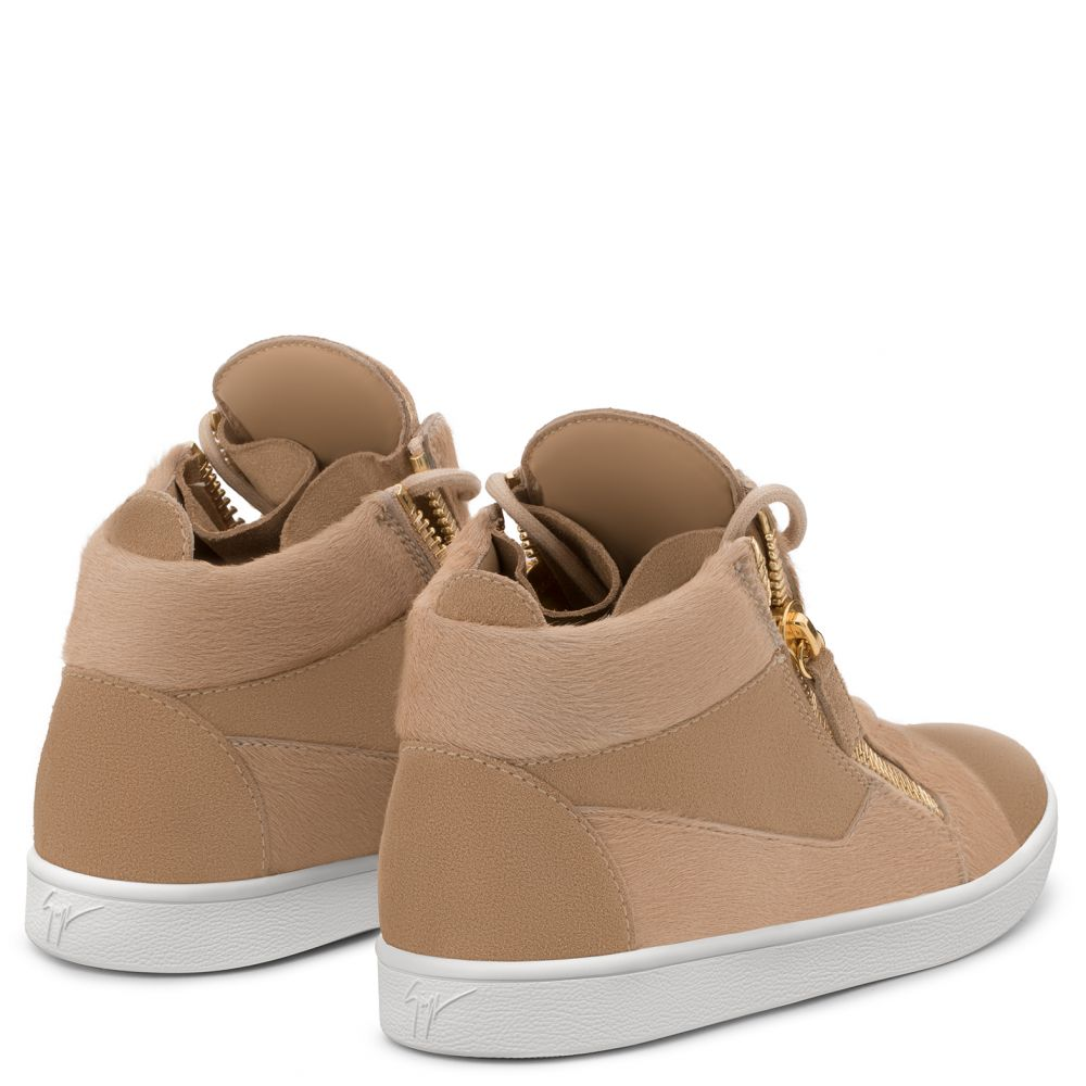JAMIE HIGH - Beige - Sneakers montante