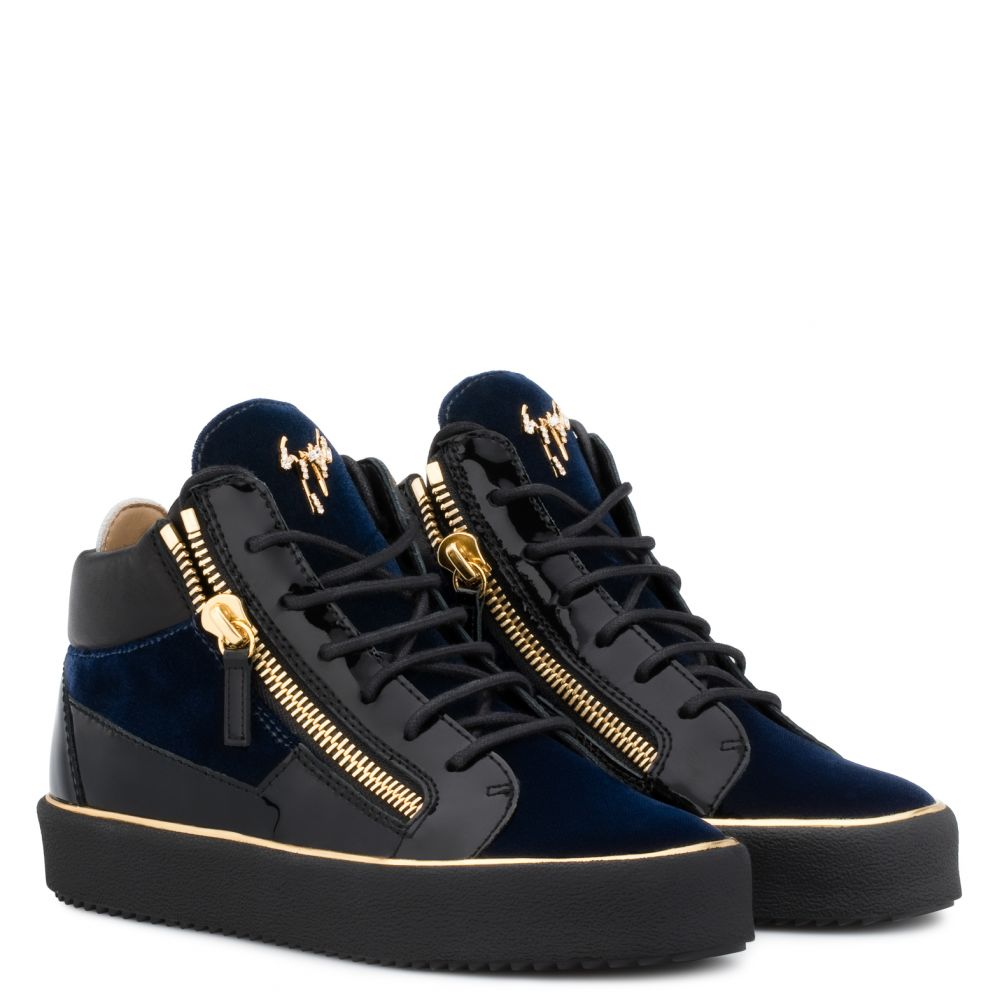 GLYNN - Blue - Mid top sneakers