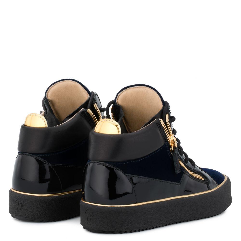 GLYNN - Blue - Mid top sneakers