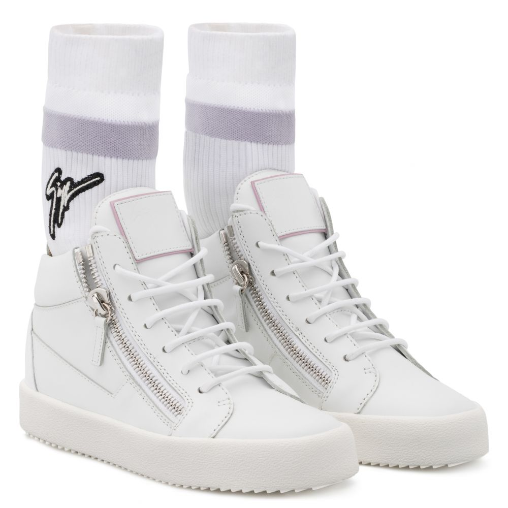 KRISS PLUS - White - Mid top sneakers