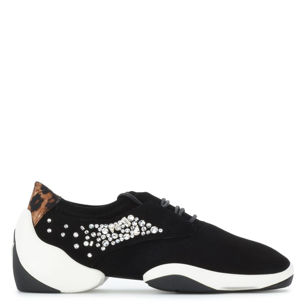 LACED JUMP - Nero - Slip On