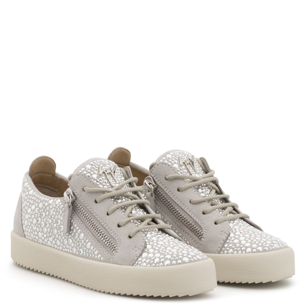GAIL CRYSTAL - Silver - Low top sneakers