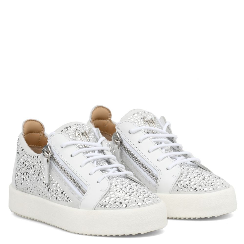 GAIL CRYSTAL - White - Low top sneakers