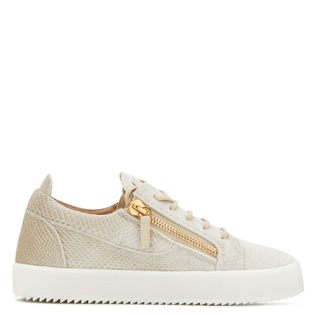 GAIL VELVET - Beige - Low top sneakers
