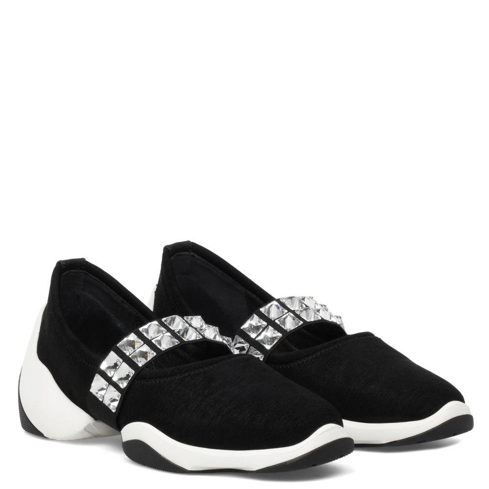 LIGHT JUMP CRYSTAL - Black - Low top sneakers