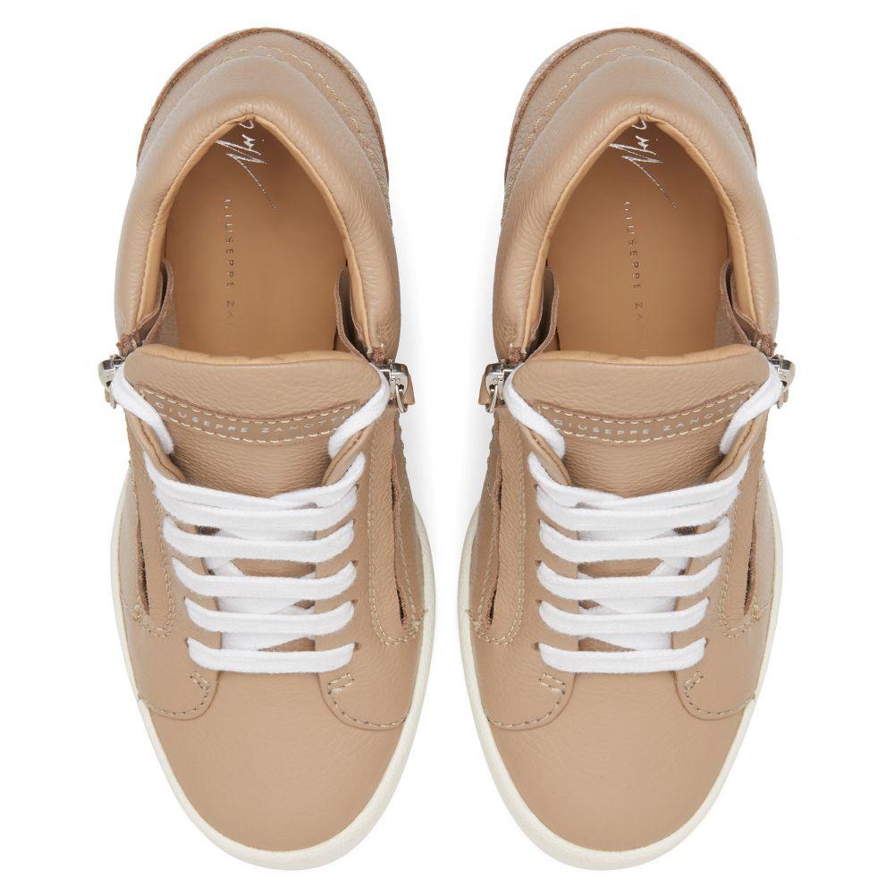 ADDY  WEDGE - Beige - High top sneakers