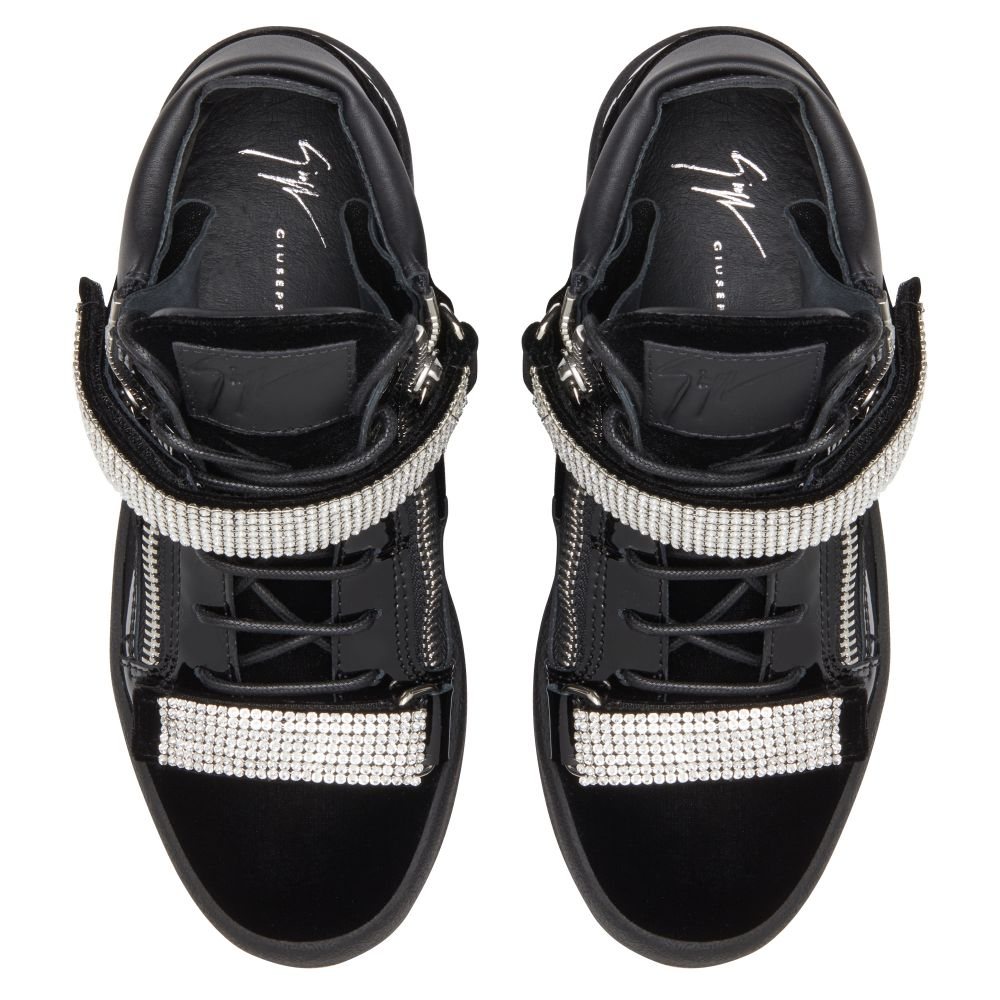 KRISS STRIPE - Black - Mid top sneakers