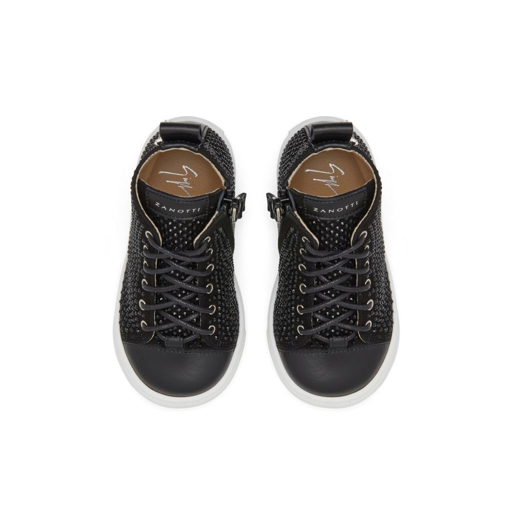 MATTIA - Black - Mid top sneakers