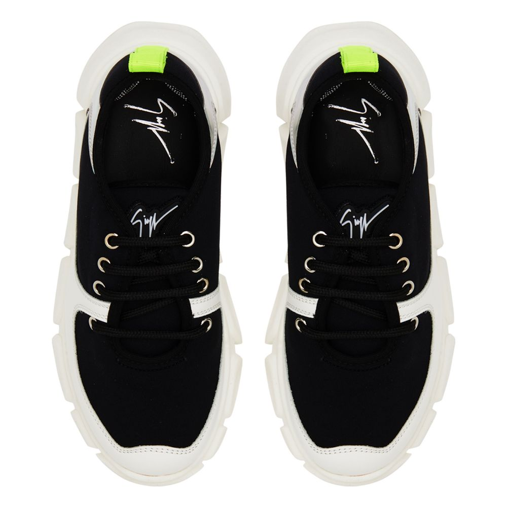 MARSHMALLOW - Black and white - Sneakers basses