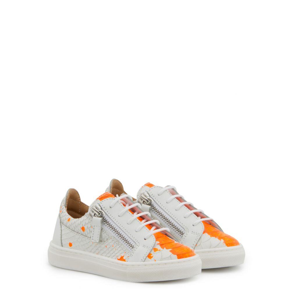 FRANKIE SKETCH JR. - Orange - Low top sneakers