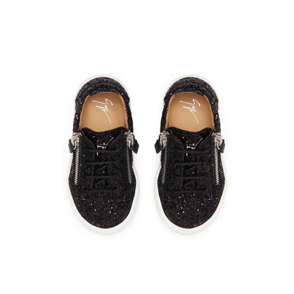 CHERYL GLITTER JR. - Black - Low top sneakers