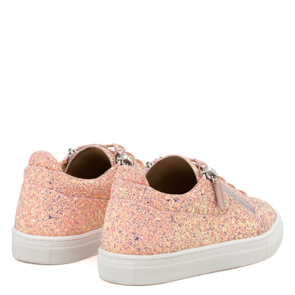 CHERYL GLITTER JR. - Pink - Low top sneakers