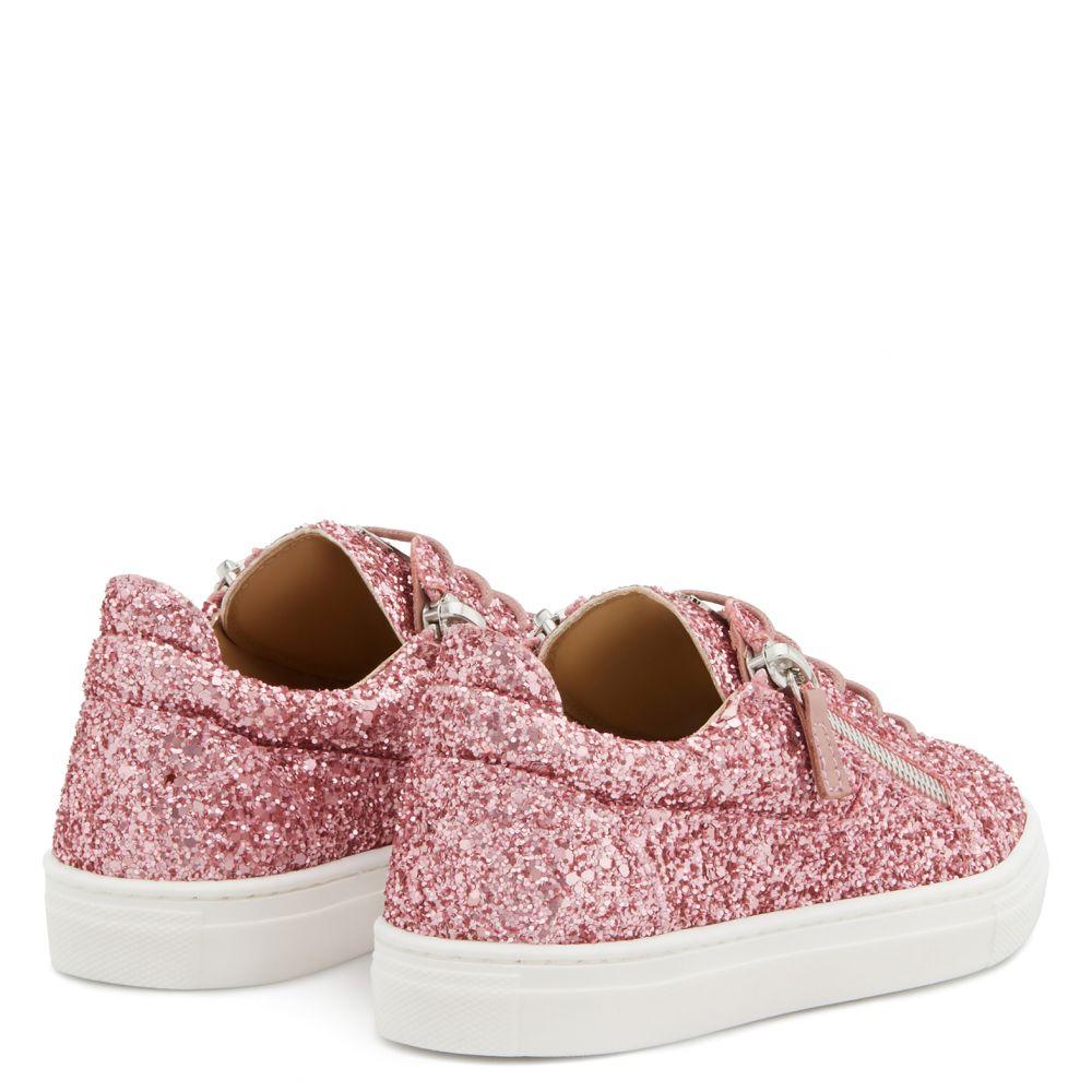 CHERYL GLITTER JR - Pink - Low top sneakers