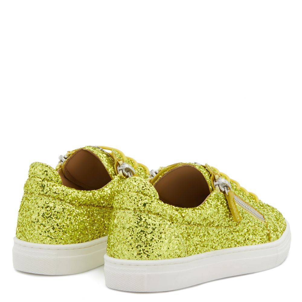 CHERYL GLITTER JR - Yellow - Low top sneakers