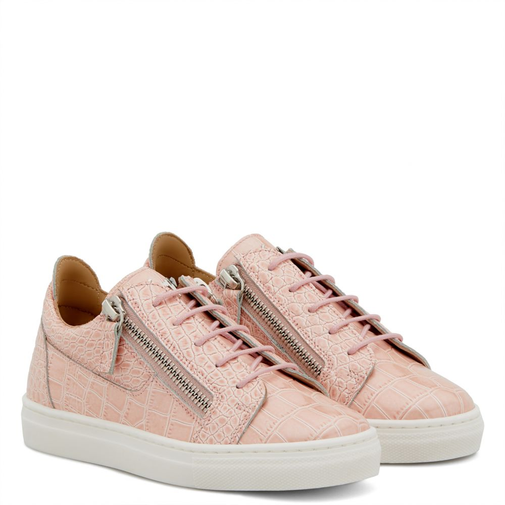 CHERYL GLITTER JR - Pink - Low top sneakers