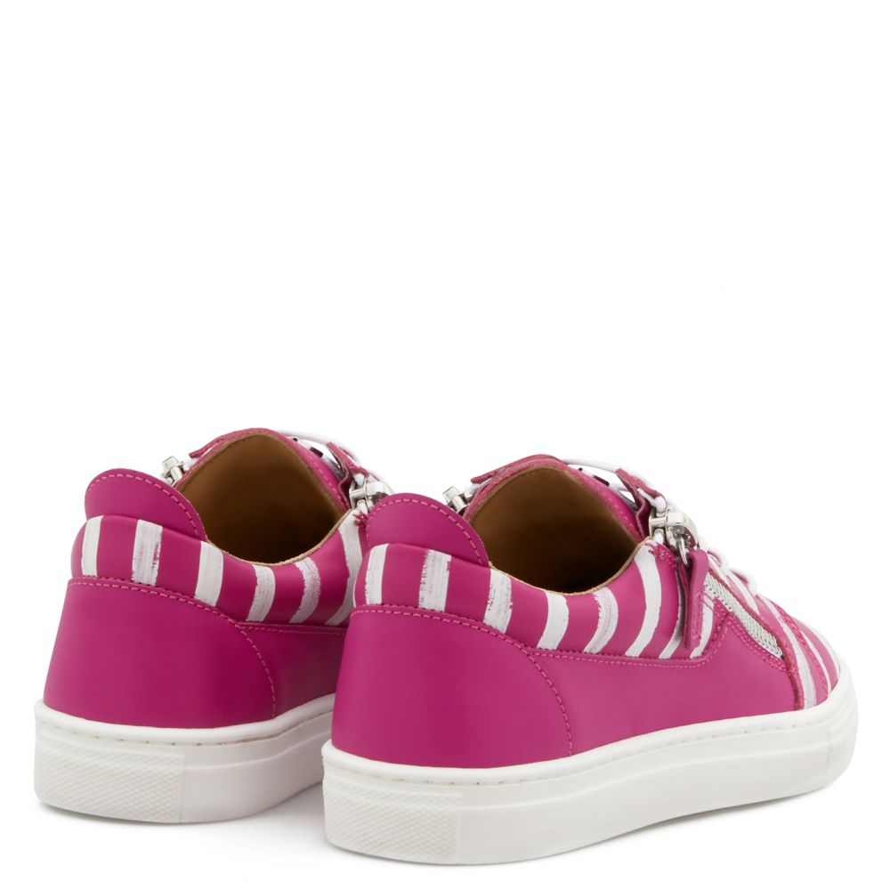 FRANKIE GLOSS JR. - Fuxia - Low top sneakers