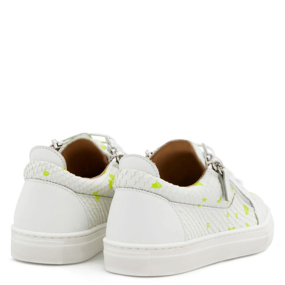 FRANKIE SKETCH JR. - Yellow - Low top sneakers