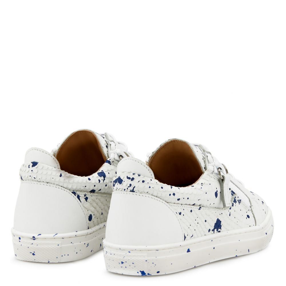 DOUBLE SKETCH JR. - White - Low top sneakers