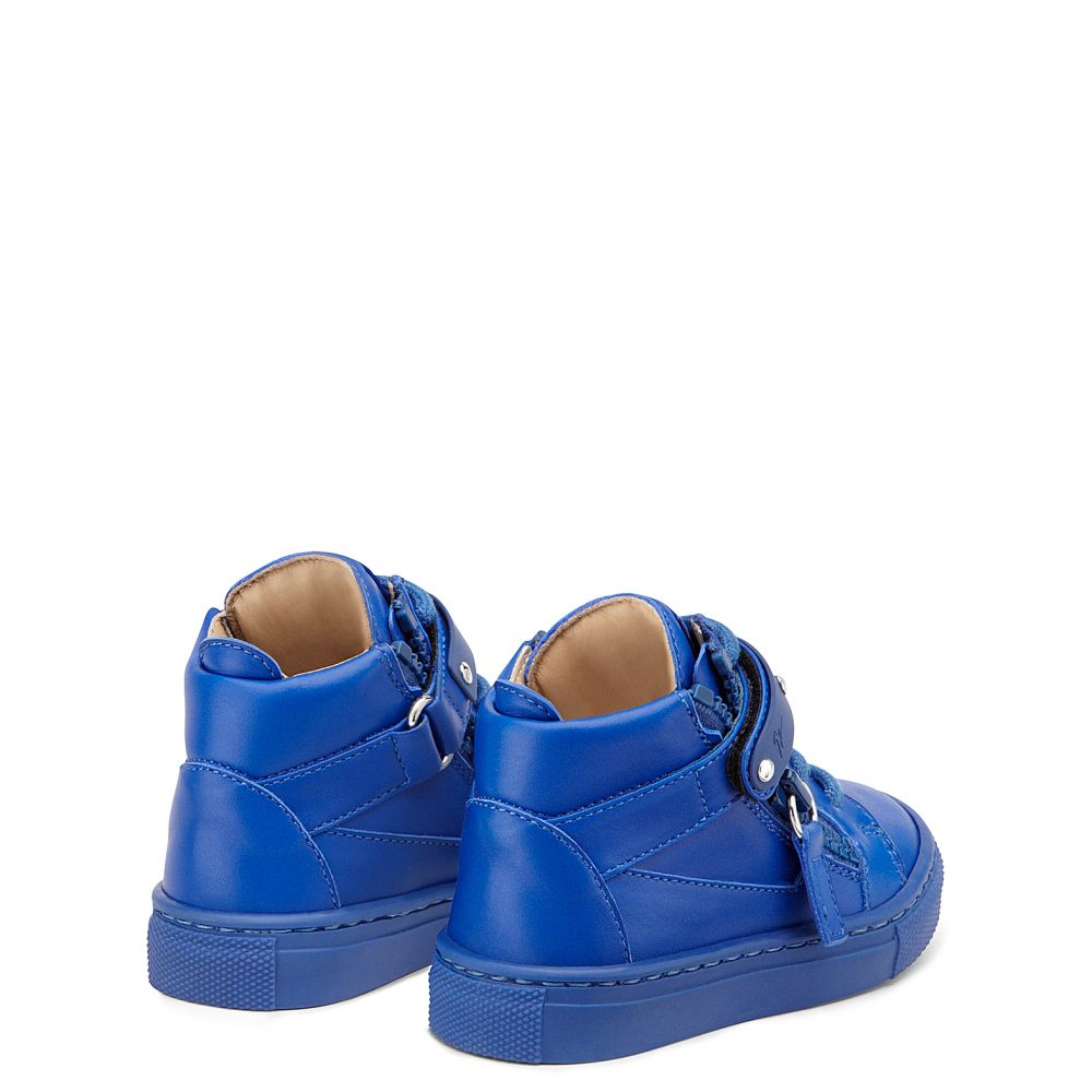 TAYLOR - Blue - Mid top sneakers