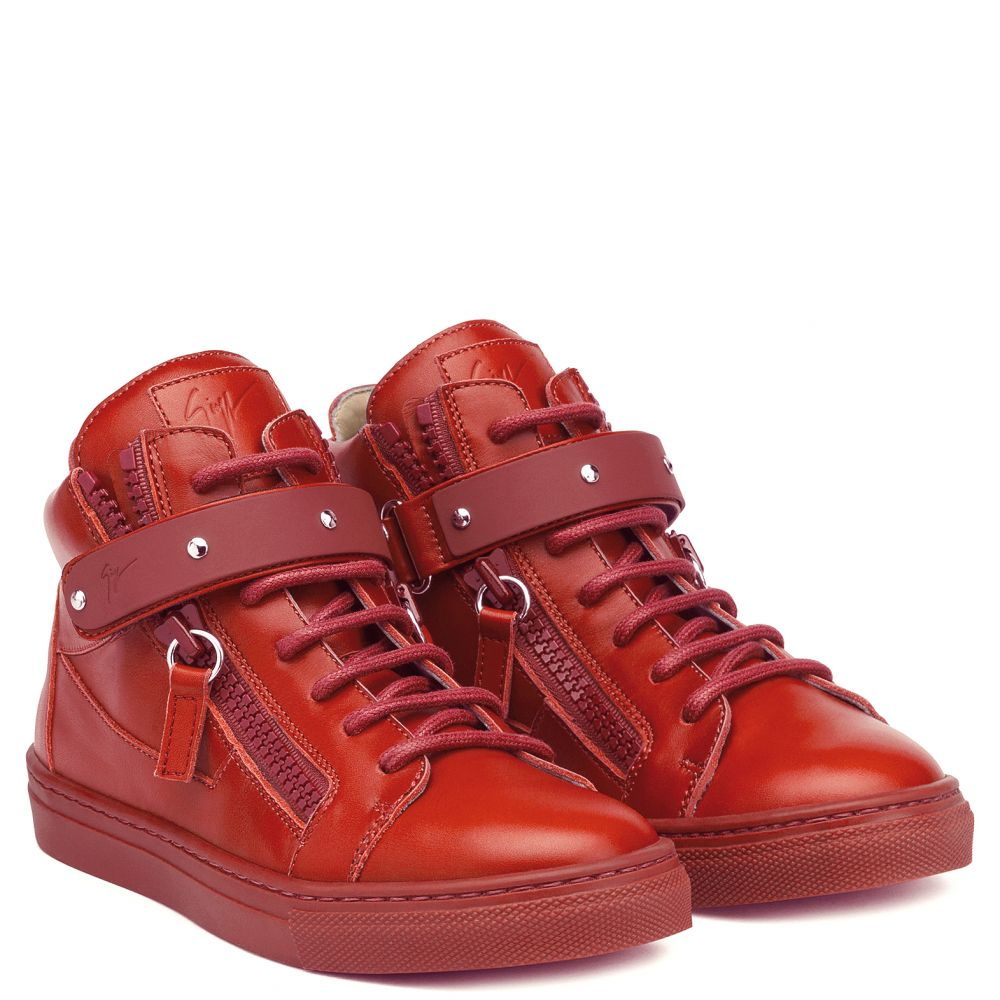 TAYLOR - Red - Mid top sneakers