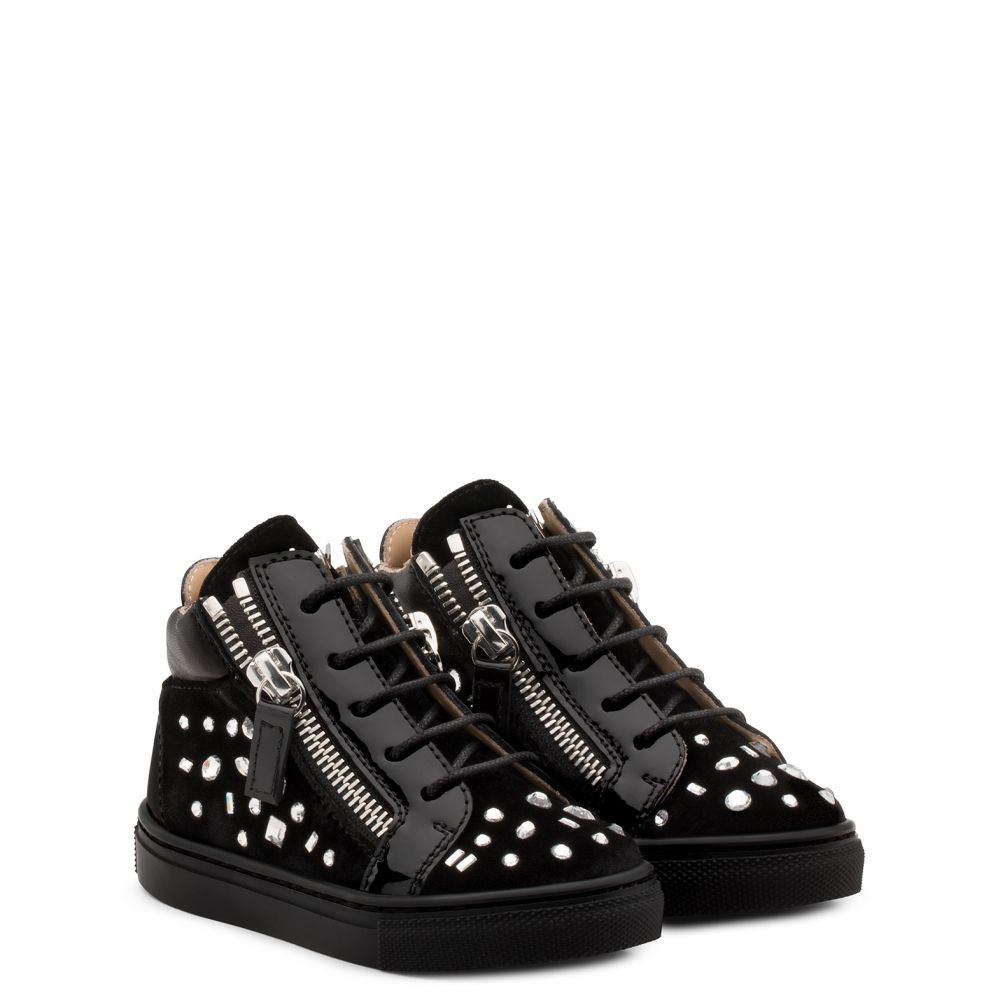 THE DAZZLING JUNIOR - Black - Mid top sneakers