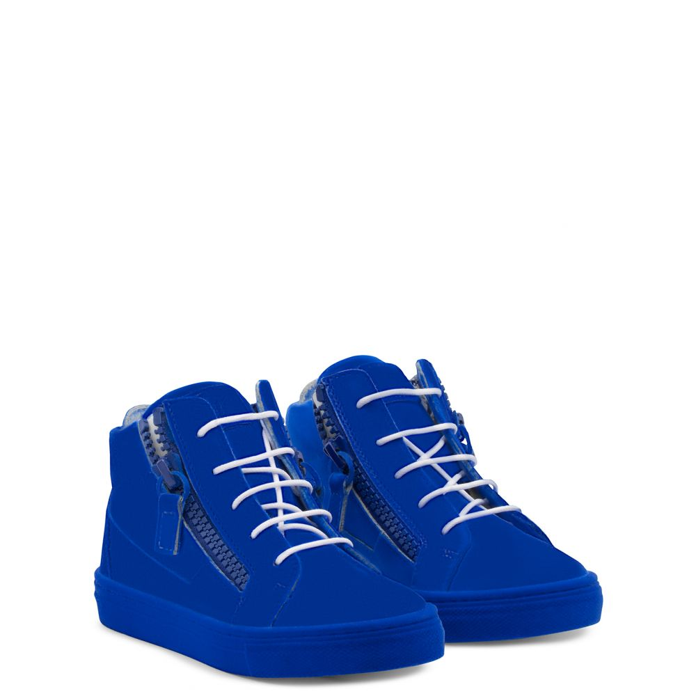 THE UNFINISHED JR. - Blue - Mid top sneakers