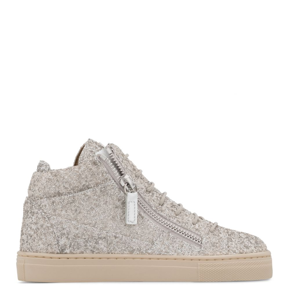 KRISS JR. - Beige - Mid top sneakers