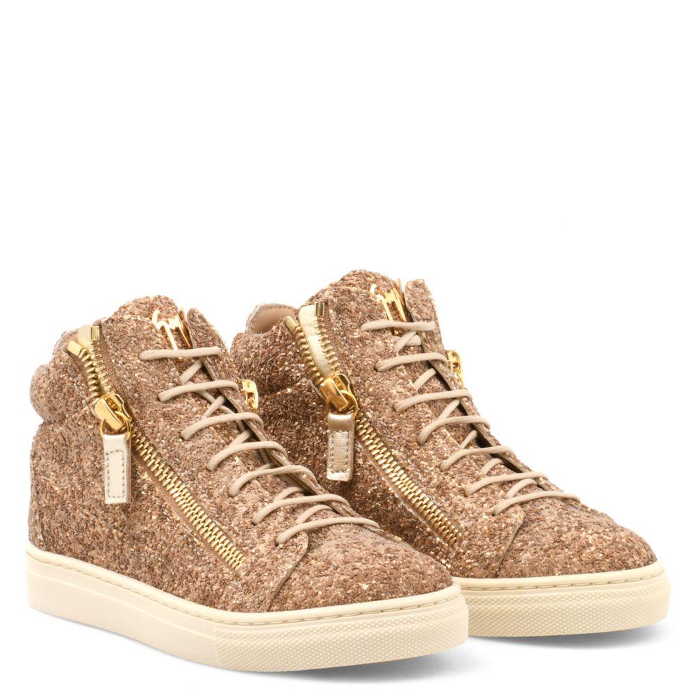 KRISS JR. - Brown - Mid top sneakers