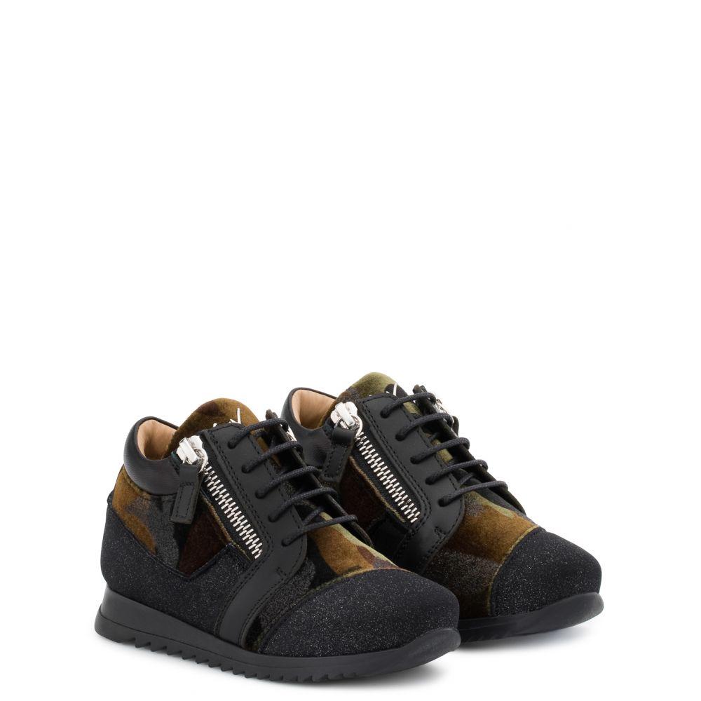 RUNNER JR. - Noir - Sneakers basses