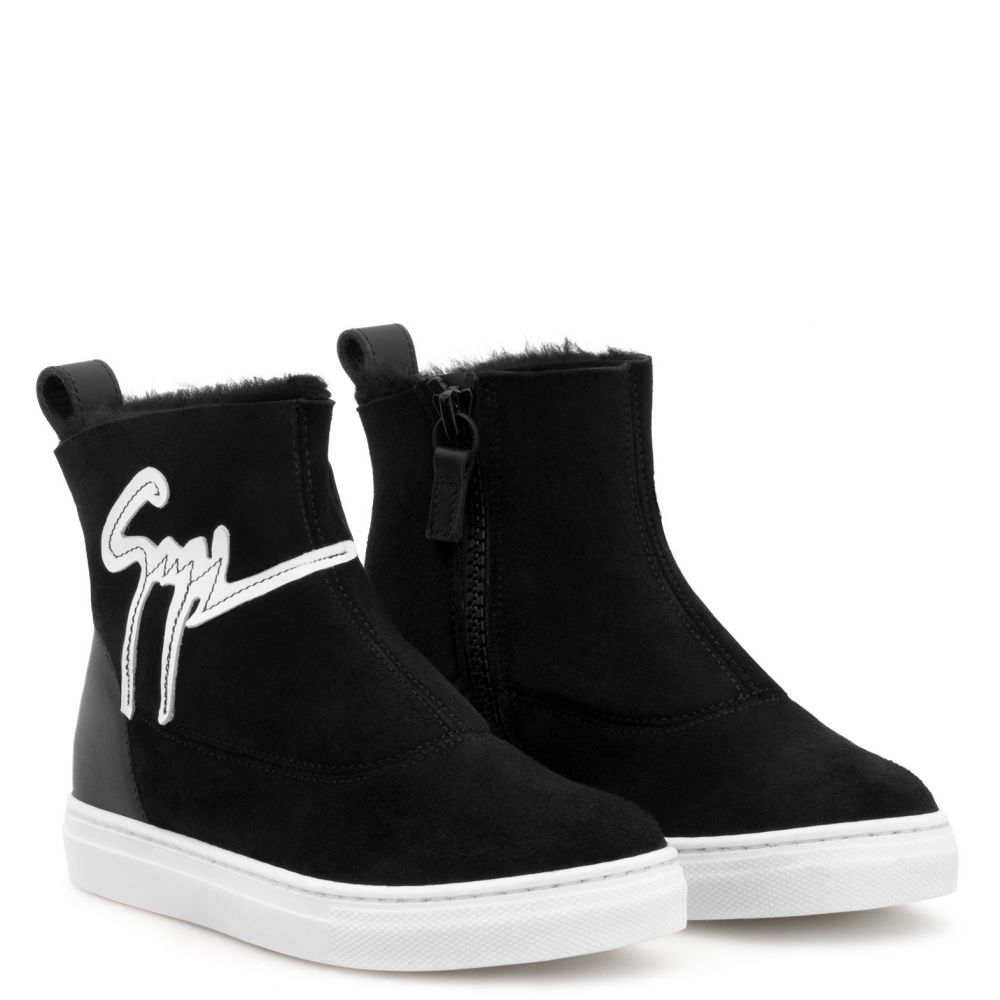 CYRIL JR. - Black - High top sneakers